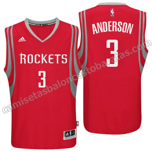 camiseta ryan anderson 3 houston rockets 2016 roja