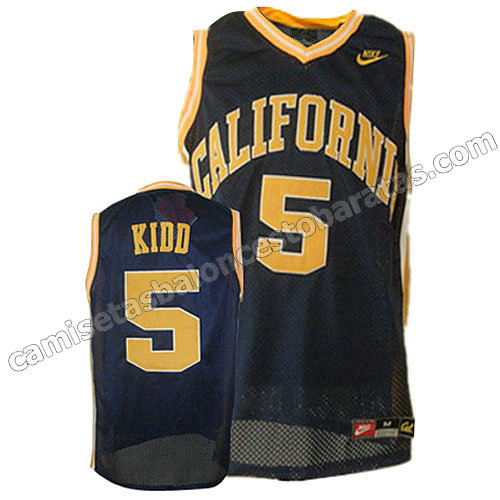 camisetas de ncaa north california jason kidd #5 armada azul