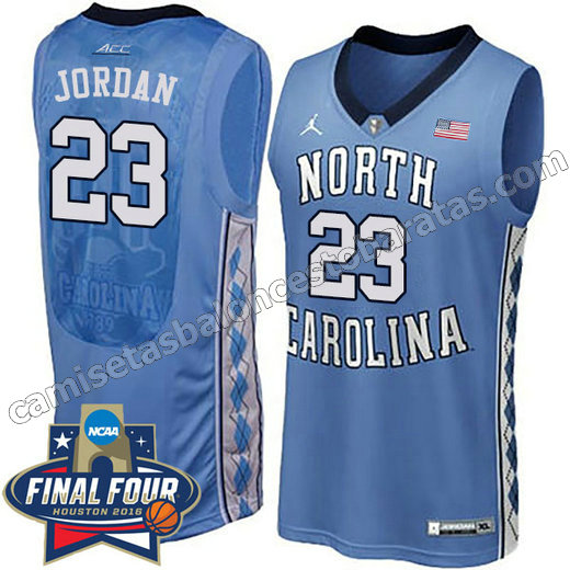camisetas de ncaa north carolina tar heels michael jordan #23 azul