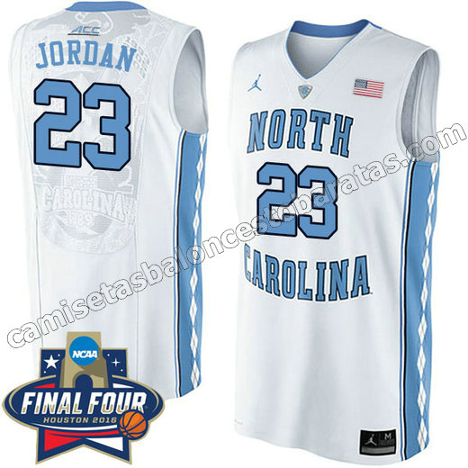 camisetas de ncaa north carolina tar heels michael jordan #23 blanca