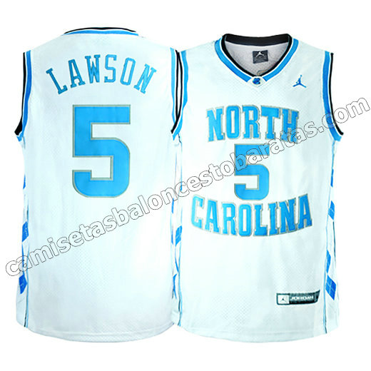 camisetas ncaa north carolina tar heels tyler hansbrough #50 blanca