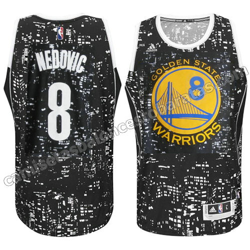 equipacion nemanja nedovic #8 golden state warriors luces negro