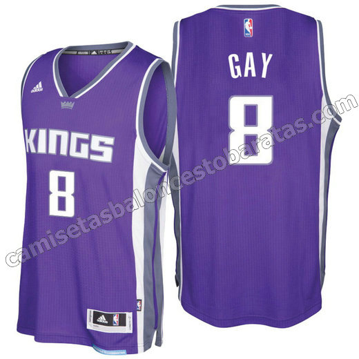 equipacion rudy gay 8 sacramento kings 2016-2017 purpura