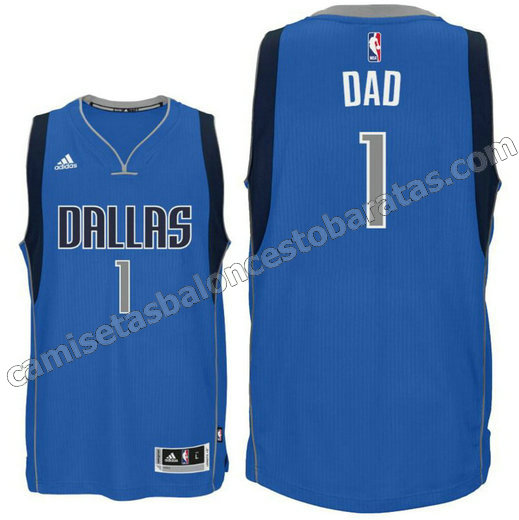 camiseta dallas mavericks 2015-2016 con dad logo 1 azul