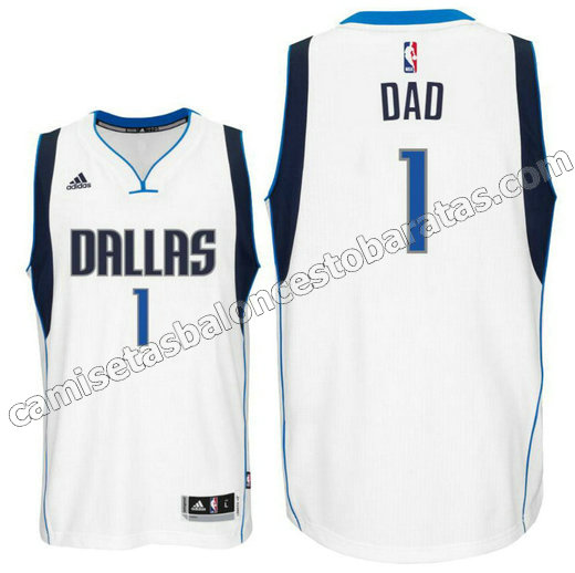 camiseta dad logo 1 dallas mavericks 2015-2016 blanca