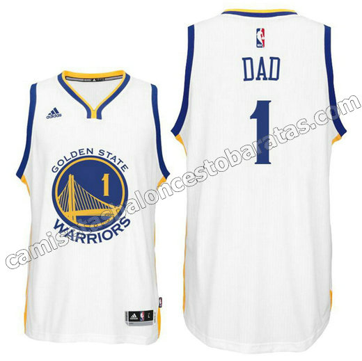 camiseta dad logo 1 golden state warriors 2016 blanca