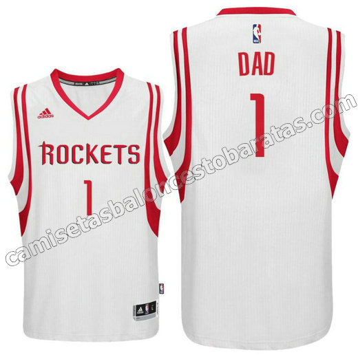 camisetas nba houston rockets 2016 con dad logo 1 blanca