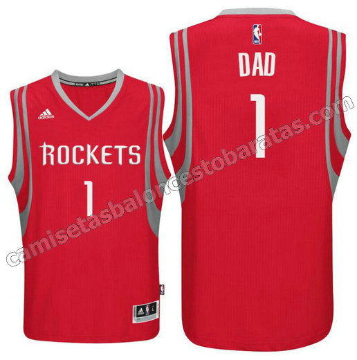 camisetas nba houston rockets 2016 con dad logo 1 roja