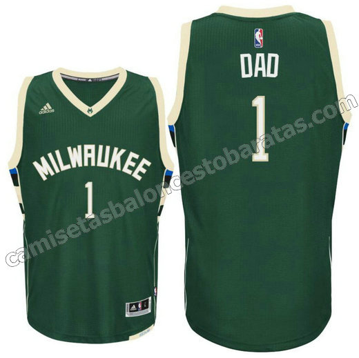 camisetas nba milwaukee buck 2016 con dad logo 1 verde