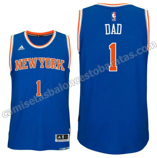 camisetas nba new york knicks 2016 con dad logo 1 azul