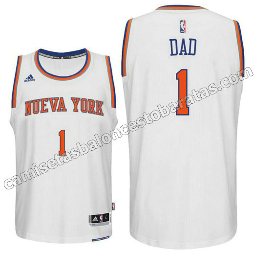 camisetas nba new york knicks 2016 con dad logo 1 blanca