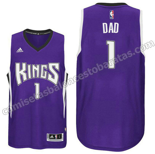 camisetas basekt dad logo 1 sacramento kings 2016 purpura