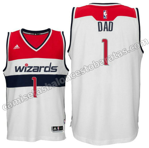 camiseta dad logo 1 washington wizards 2015-2016 blanca