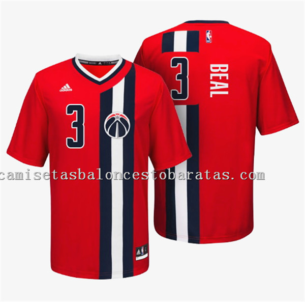 camisetas de bradley beal 3 con washington wizards roja