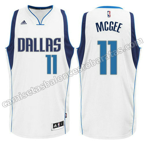 camiseta JaVale McGee #11 dallas mavericks 2015 blanca