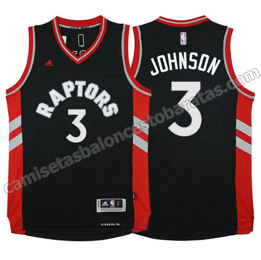 camiseta james johnson 3 toronto raptors 2015-2016 roja