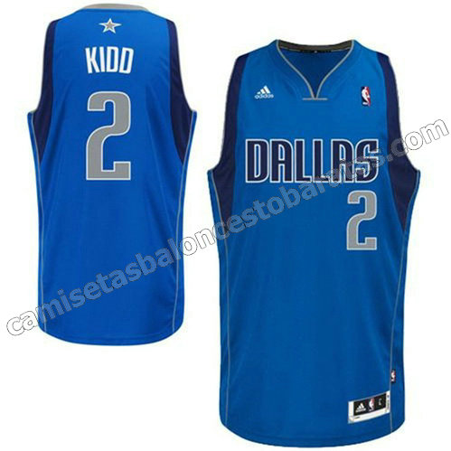 camiseta jason kidd #2 dallas mavericks revolucion 30 azul