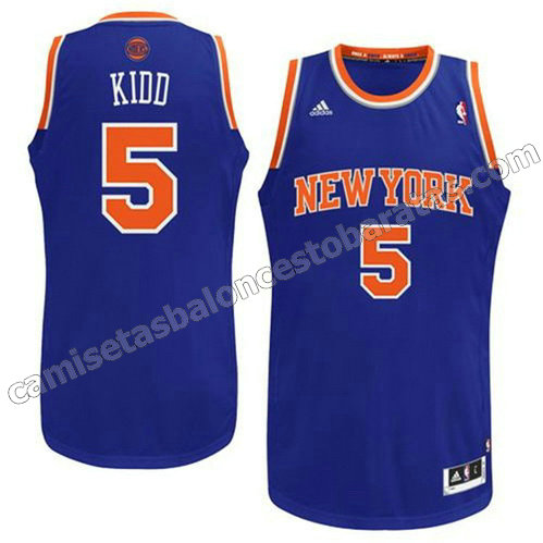 camiseta jason kidd #5 new york knicks revolucion 30 azul