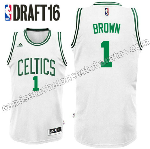 camiseta jaylen brown 1 boston celtics draft 2016 blanca