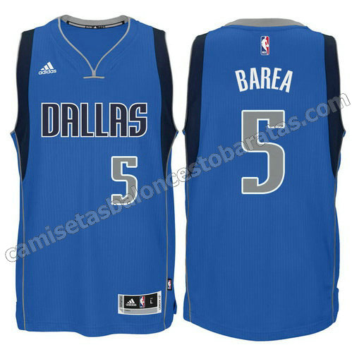 camiseta nba jj barea #5 dallas mavericks 2015 azul
