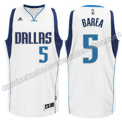camiseta jj barea #5 dallas mavericks 2015 blanca