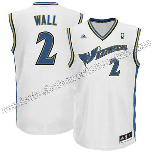 camiseta john wall #2 washington wizards revolucion 30 blanca