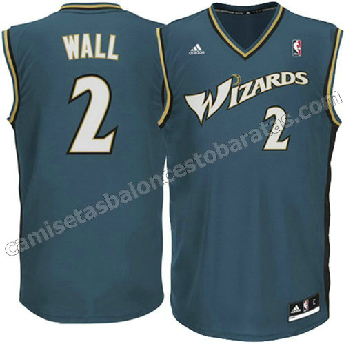 camisetas john wall #2 washington wizards revolucion 30 gris