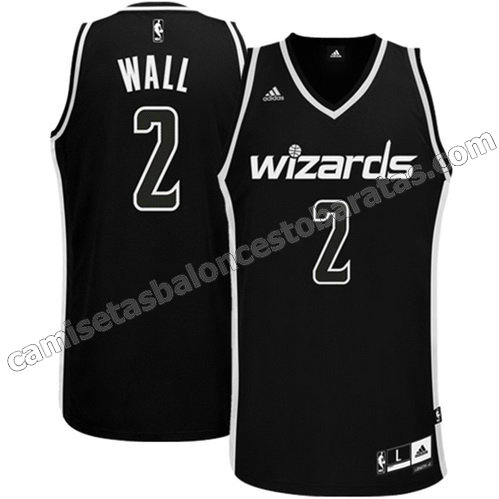 camiseta john wall #2 washington wizards revolucion 30 negro