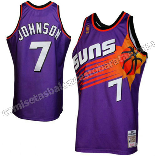 camiseta johnson #7 phoenix suns soul 1996-1997 retro purpura