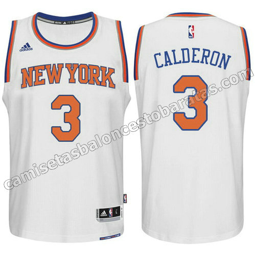 equipacion jose calderon #3 new york knicks 2015 swingman blanca