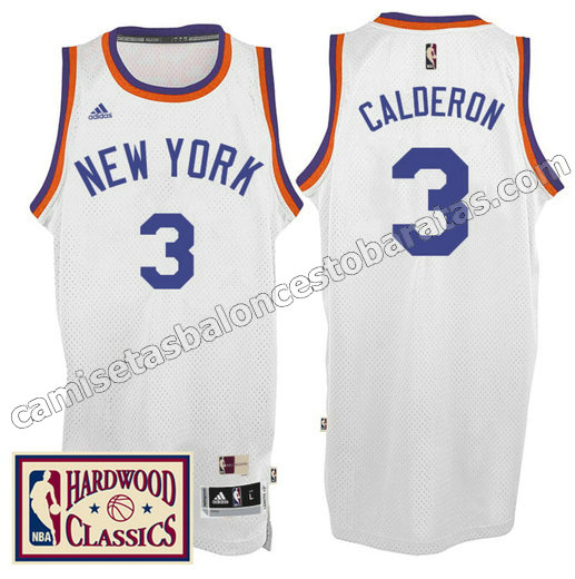 camiseta jose calderon 3 new york knicks 2016-2017 blanca