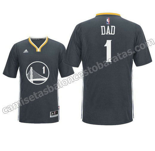 camisetas nba dad logo 1 golden state warriors 2016 negro