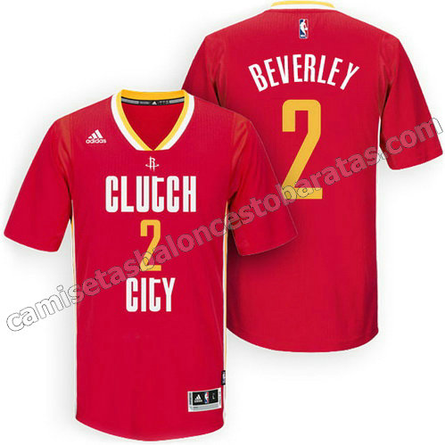 camisetas nba patrick beverley #2 houston rockets 2015-2016 roja