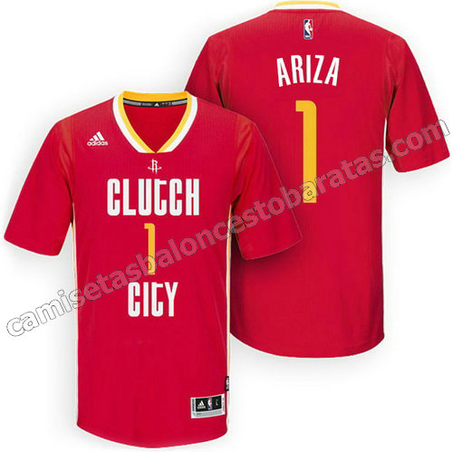 camisetas nba houston rockets 2015-2016 trevor ariza #1 roja