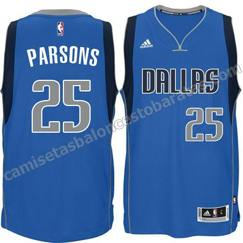 camiseta chandler parsons #25 dallas mavericks 2014-2015 azul