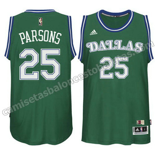 camiseta chandler parsons #25 dallas mavericks clasico verde