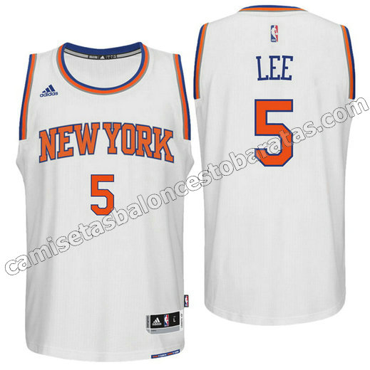 camiseta new york knicks 2016 con courtney lee 5 blanca