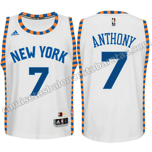 camisetas nba ninos new york knicks carmelo anthony #7 blanca