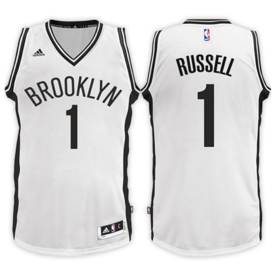 equipacion d'angelo russell 1 2017-18 brooklyn nets bianca