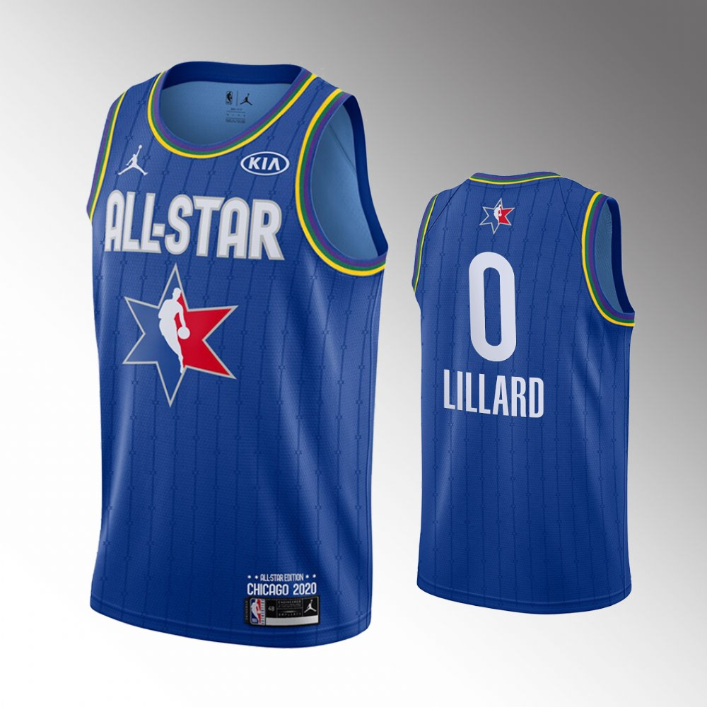 camiseta Damian Lillard Jordan #0 nba all star 2020 azul