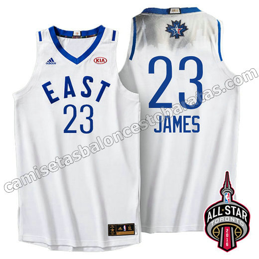 camisetas baloncesto LeBron james #23 nba all star 2016 blanca