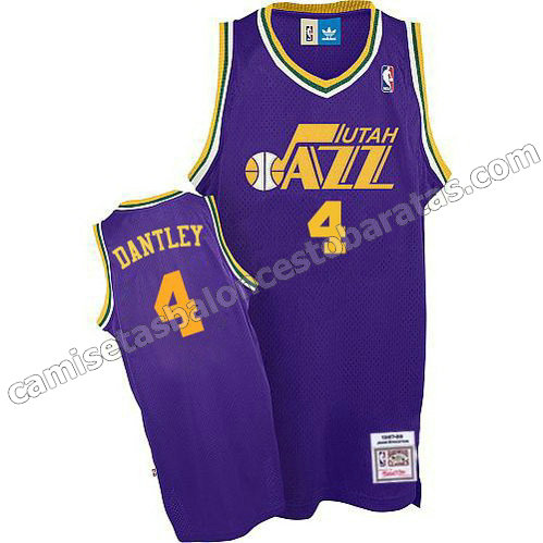 camiseta adrian dantley #4 utah jazz soul purpura