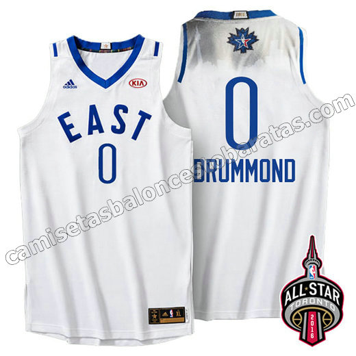 camiseta baloncesto andre drummond #0 nba all star 2016 blanca