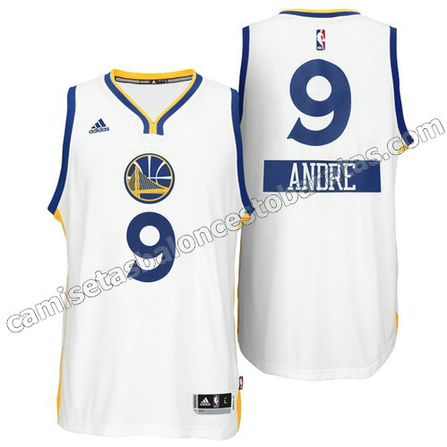 camiseta andre iguodala #9 golden state warriors navidad 2014 blanca