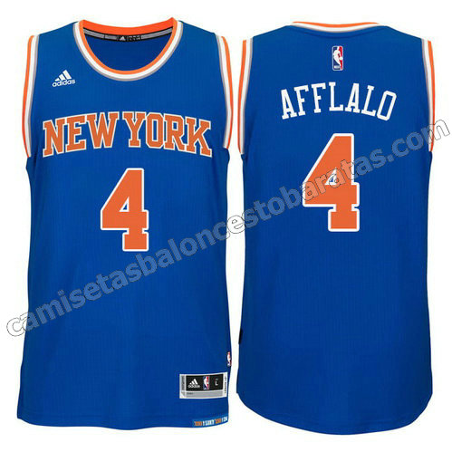camiseta arron afflalo #4 new york knicks 2015 swingman azul