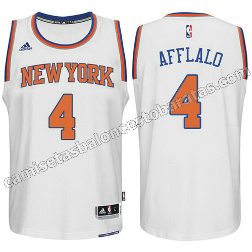 camiseta arron afflalo #4 new york knicks 2015 swingman blanca