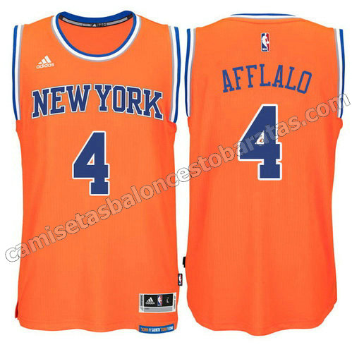 camiseta arron afflalo #4 new york knicks 2015 swingman naranja