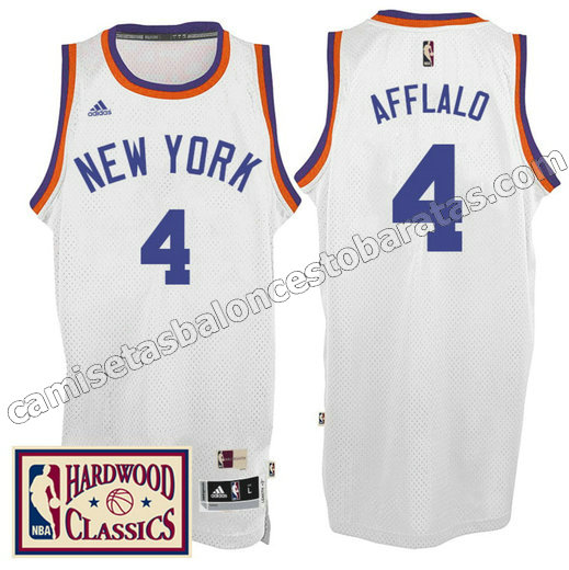 camiseta arron afflalo 4 new york knicks 2016-2017 blanca