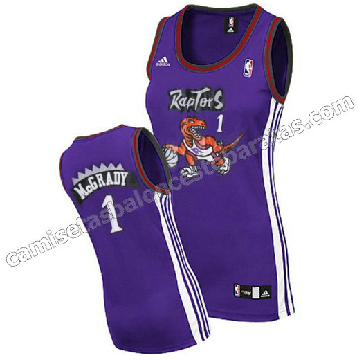 camiseta baloncesto mujer tracy McGrady 1 toronto raptors purpura