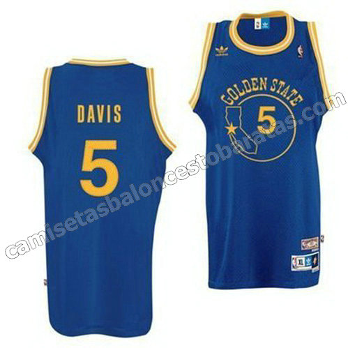 camisetas nba baron davis #5 golden state warriors clasico azul